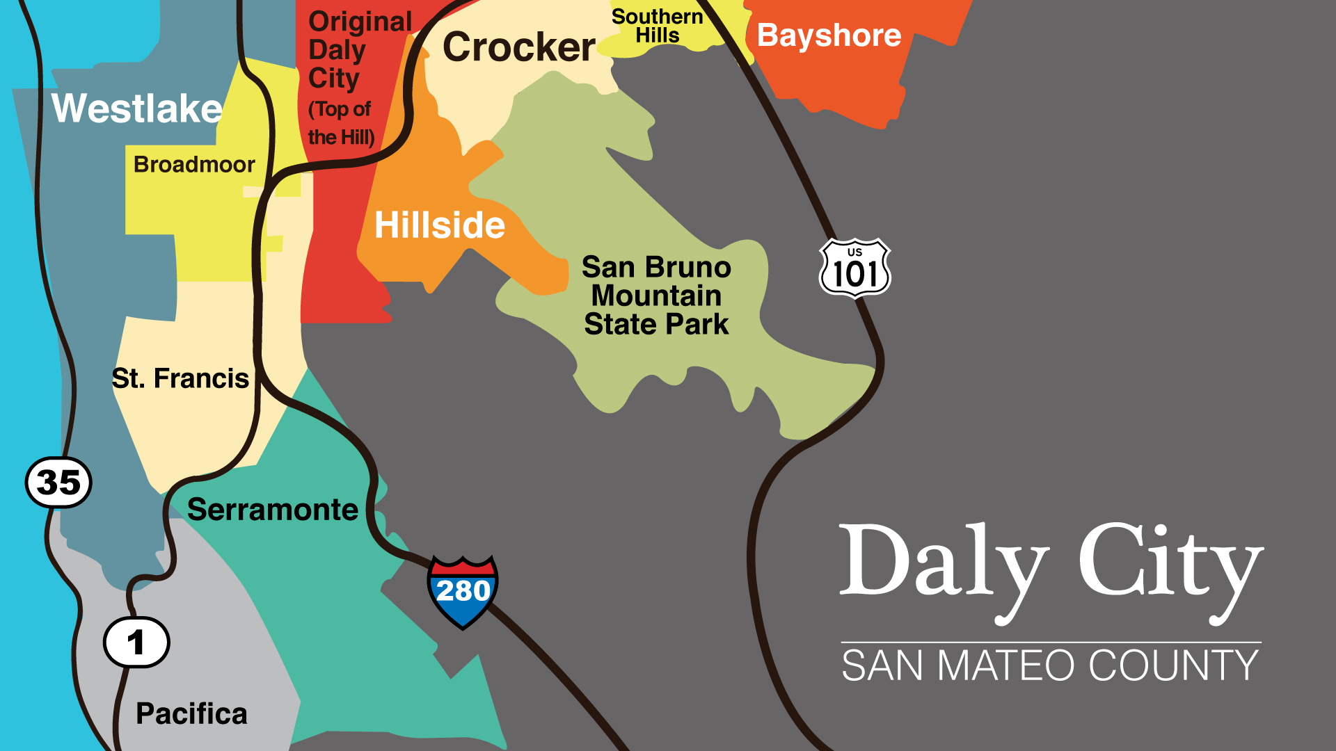 Daly City Subdistricts Bay Area Drop In