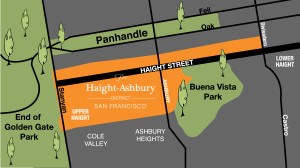 Haight Ashbury District Map
